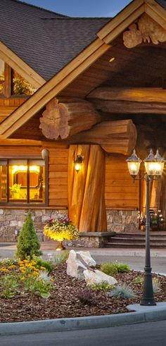 Rustic Handcrafted Log Home Built by Pioneer Log Homes | Besides harnessing Red Cedar's innate qualities—which also include standout acoustical dampening—they season and air-dry each and every building log to ensure a timber structure that'll undergo minimal shrinkage, checking, and settling. #loghomes #logcabins #loghomeliving #logcabinhomes