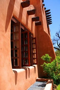 Santa Fe sky - so vivid and so blue -perfect with the adobe buildings of Santa Fe