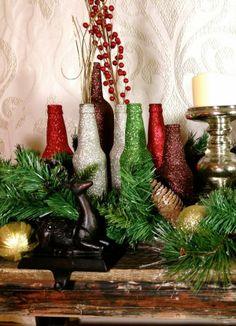 2013 Chocolate Brown Christmas Decor Ideas, Christmas Sparkle #2013 #christmas #table #decor www.loveitsomuch.com