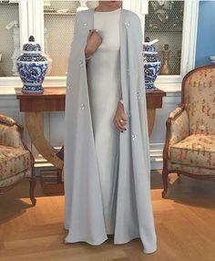 Abaya Style 64363 Pinned via Street Hijab Fashion, Arab Fashion, Islamic Fashion, Muslim Fashion, Modest Fashion, Fashion Dresses, Fashion Clothes, Hijab Outfit, Hijab Dress
