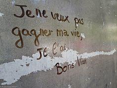 Boris Vian au feutre noir