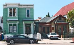 Victorian Houses in California | Victorian style houses in the Little Italy, San Diego, California ...