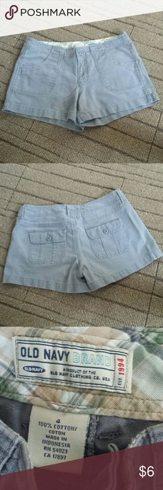 Old Navy shorts Khaki material, like new condition, about 11 In long Old Navy Shorts Cargos