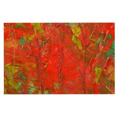 KESS InHouse Jeff Ferst 'Crimson Forest' Red Green Dog Place Mat, 13' x 18' >>> Special dog product just for you. See it now! : Dog food container