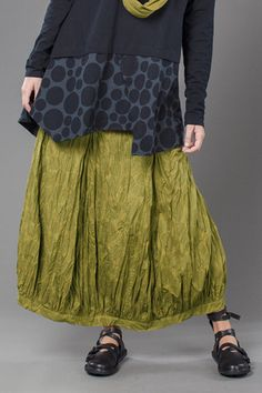 Fab Skirt in Green Charteuse Bellini Carnaby. like the bottom edge that could be added to existing skirt.