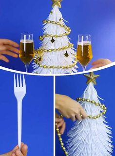 If you are looking to make your house look festive on a bidget then check out these Dollar Store Christmas Decorations that can be made for next to nothing. Fabric Christmas Ornaments, Christmas Crafts To Make, Christmas Table Decorations, Diy Christmas Tree, Simple Christmas, Angel Ornaments, Dollar Store Halloween, Dollar Store Christmas, Fork Crafts