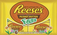 Reese's Easter Peanut Butter Eggs  6-Count Packages (Pack of 4): http://www.amazon.com/Reeses-Easter-Peanut-6-Count-Packages/dp/B004742XZ0/?tag=httpbetteraff-20