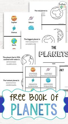 Free Solar System Planets Book in English and Spanish Planet Books, Free Planet, Solar System Planets, Sistema Solar, Interactive Notebooks, Free Books, Booklet, Astronomy, Spanish