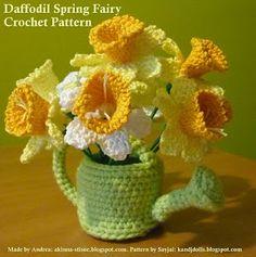 Daffodil Spring Fairy 2 ~ Amigurumi crochet patterns ~ K and J Dolls / K and J Publishing