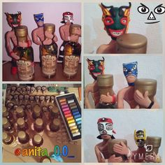 Finally, not at all, I show you these guys I've been working on. I continue to do other small things in cold porcelain. Part of the best of my country is a good Tequila and Mexican wrestling. Visit Mexico, know #Artesanies www.artesanies.com.mx part of my work you find it here. #mexicanwrestling #crafts #polymerclay #clay #coldporcelain