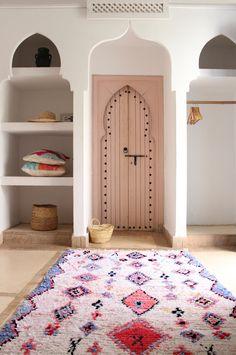 Boucherouite rug. Handmade in Morocco