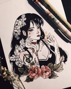 Artist instagram @peithedragon   Sailor Mars
