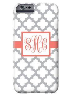 monogrammed quatrefoil iPhone 6 case