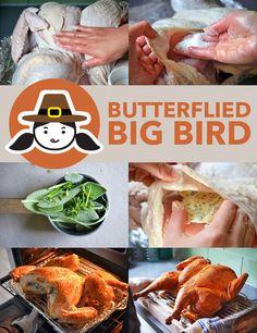 Nomtastic Paleo Thanksgiving: Spatchcocked Turkey (Butterflied Big Bird) Video by Michelle Tam http://nomnompaleo.com