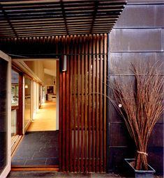 trellis entrance + cool wall