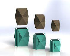 Vase géométrique moule Set - moules réutilisables - tailles S-L - maintenant disponible en 3 tailles!! Moule béton, planteur géométrique
