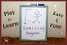 Spelling Hangman - a fun and easy way to practice those weekly spelling words with kids