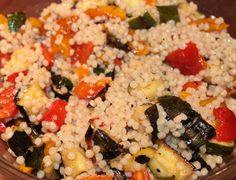 roasted pepper, zucchini & couscous salad......perfect for a cookout, potluck, or picnic!