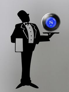 The Nest Thermostat is amazing- and made even more so by these fun decals from Tradingphrases.com!