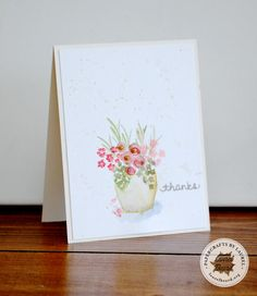 Watercolor Flowers Card | laurelbeard.org (10.12.14)