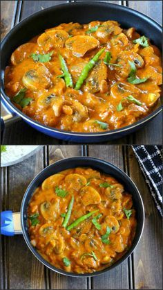 Mushroom Butter Masala is a spicy, creamy and a delicious dish that is perfect accompaniment for steamed rice or bread varieties