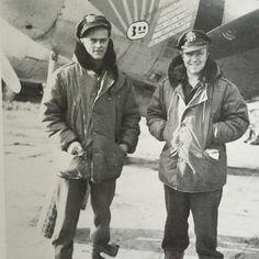 P-38 pilots wearing B-9 parkas #buzzricksons #usaaf #p38 #b9 #ww2