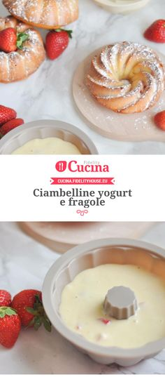 Ciambelline yogurt e fragole