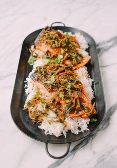 Crispy Scallion Ginger Salmon - The Woks of Life