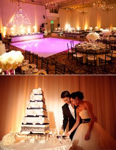 Revelry Event Designers Montage Beverly Hills The Special Day Grace Ormonde | table setting | wedding | wedding design | event design | black and white |