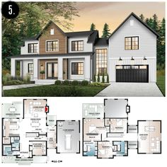 39 most popular dream house exterior design ideas 33 - Traumhaus Sims House Plans, House Layout Plans, Dream House Plans, House Layouts, House Plans Mansion, House Design Plans, Two Story House Plans, Two Story Homes, Modern House Floor Plans