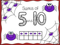 FREEBIE!!!! Spider Sums of 5 and Sums of 10.