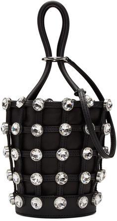 4433a8e3b29e Alexander Wang - Black Mini Crystal Roxy Bucket Bag Bucket Bag