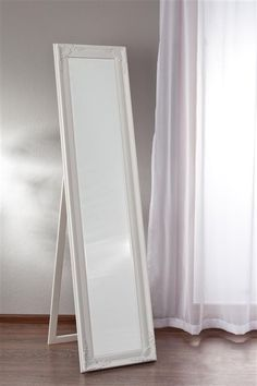 Lustro Penelope stojące 40x160cm biała rama, 40x160cm -  Dekoria #white #meble #biale #furniture #interior #idea #design  #mirror
