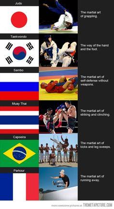 Martial arts explained…