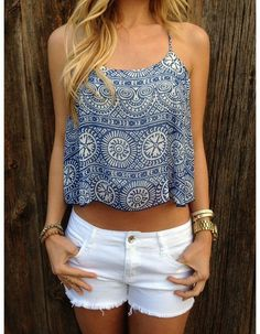 aztec summer crop tops