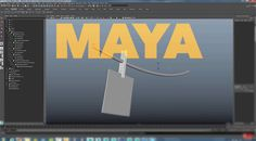 Hang Objects on a String Using Maya's nHair and nCloth