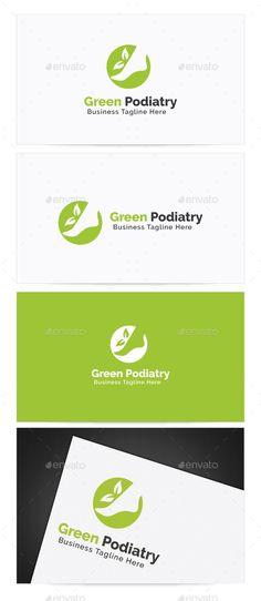 Green Podiatry Logo Design Template Vector #logotype Download it here: http://graphicriver.net/item/green-podiatry-logo/9933189?s_rank=795?ref=nexion