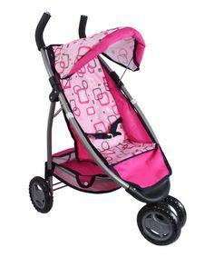 Look what I found on #zulily! Pink Geometric Toy Stroller #zulilyfinds