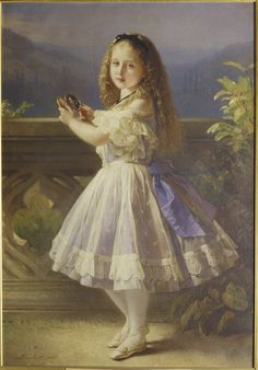 Princess Beatrice, later Princess Henry of Battenberg (1857-1944) when a child | Royal Collection Trust