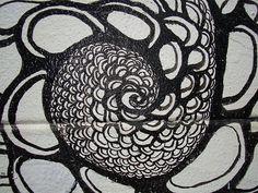 Spiral pattern mural in San Francisco Spiral Pattern, City Art, Tribal Tattoos, Street Art, San Francisco, Templates, Funny, Stencils, Template