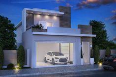Planta de sobrado com dispensa Home Interior Design, Exterior Design, 20x40 House Plans, Narrow House, Earth Homes, Gate Design, Scandinavian Home, Modern House Design, Building A House
