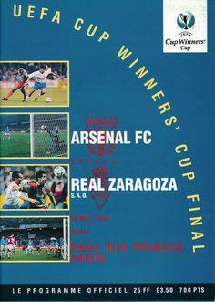Arsenal Football, Arsenal Fc, Real Zaragoza, Soccer Teams, European Cup, Football Program, Europa League, Finals, Spanish