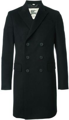 $1,820, Burberry London Double Breasted Overcoat. Sold by farfetch.com. Click for more info: https://lookastic.com/men/shop_items/365111/redirect