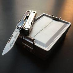 Leatherman Rebar and Farrar Tanner Gift Box