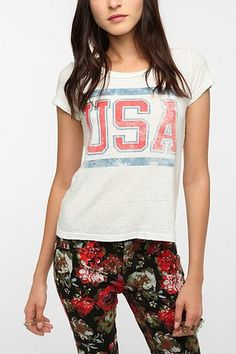 Truly Madly Deeply USA Scoopneck Tee