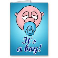 It's a Boy! :- Congratulations....it's a boy! #babyshower #newborn #birth #baby #child #boy #blue #sleepy #sibling #children #pregnancy #pregnant #expecting