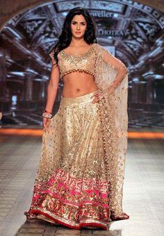 Ram Chand Punam Chand (RCPC) - Katrina Kaif Bollywood Lehenga With Zari Work -5173
