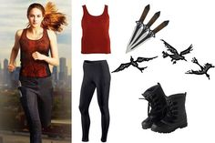 Would you like to look cool like Tris from Divergent? Take a look at this simply outfit which would make you awesome like Shailene Woodley. Halloween now is going to be more fun! Divergent Halloween Costumes, Divergent Costume, Divergent Outfits, Cute Halloween Costumes For Teens, Character Halloween Costumes, Book Character Costumes, Character Inspired Outfits, Fandom Outfits, Cute Costumes
