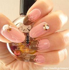 jelly nails #pinknails #crystalnailart