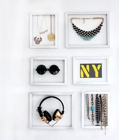 Use Frames as DIY Jewelry Storage | Brit + Co.